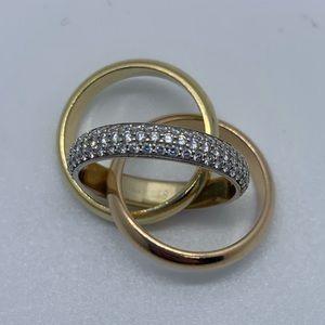 Cartier Tricolored Diamond Trinity Ring.